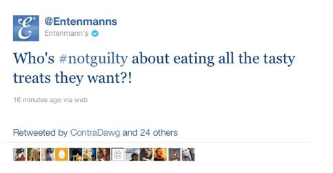 Entanmann's Twitter hashtag fail