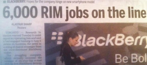 Research In Motion (BlackBerry) hashtag fail)