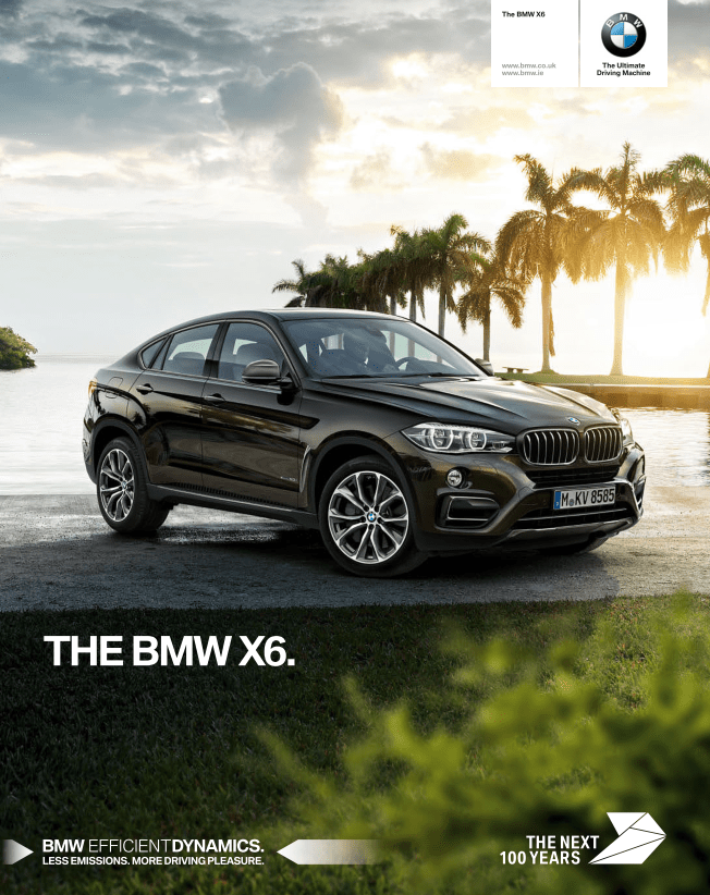BMW X6 Brochure (UK-2017)