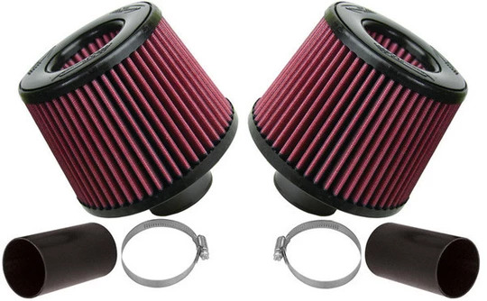 BMS Dual Cone Intake for BMW N54 Engines (Red)