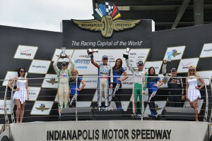 2015 Pro Mazda Indy Race Three Podium