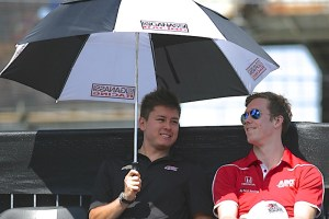 Sebastian Saavedra shares the shade with Jack Hawksworth.