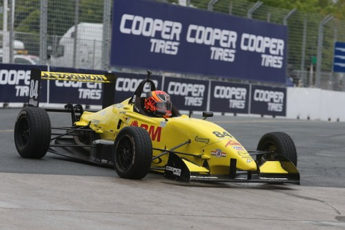Team Pelfrey's rookie Russian Rocket Nikita Lastochkin progressed 16 from his starting positions, and average of 1.5 per race.  (Photo courtesy of Indianapolis Motor Speedway, LLC Photography)