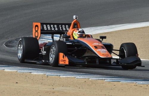The familier black and orange of  No. 8 8Star Motorsports Mazda/Dallara piloted by  Sean Rayhall (Photo courtesy of Indianapolis Motor Speedway, LLC Photography)