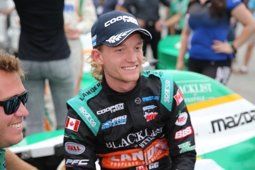 Garett Grist, a 20 year-old from Grimsby, Ontario, just completed his third season in the Mazda Road To Indy  (Photo courtesy of Indianapolis Motor Speedway, LLC Photography)