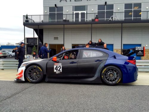 RealTime Racing recently conducted a successful shakedown test of the team's 2016 Acura Motorsports TLX-GT at Atlanta Motorsports Park (photo courtesy of Honda Performance Development)