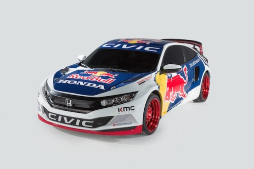 The Honda Civic Red Bull GRC will be campaigned by Olsbergs MSE with technical assistance from Honda Performance Development (photo courtesy of Honda)