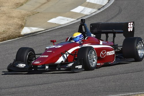 Schmidt Peterson Motorsports with Curb-Agajanian rookie Santiago Urrutia led the way in the final test before the 2016 Indy Lights Presented by Cooper Tire season gets under way. (Photo courtesy of Indianapolis Motor Speedway, LLC Photography)