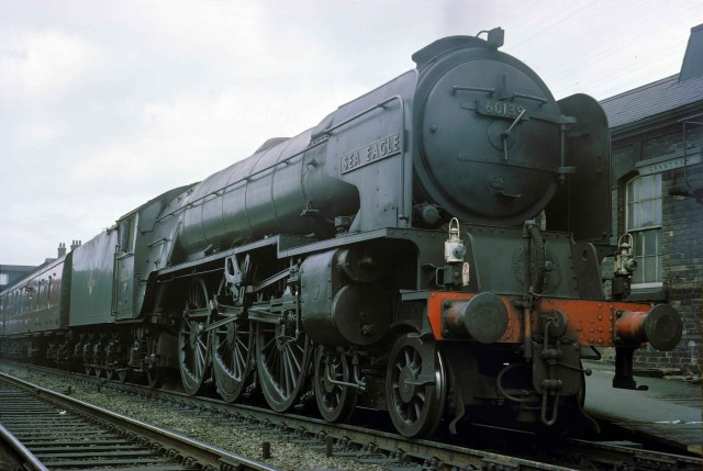 Class A1 No. 60139 Sea Eagle prepares to depart from Grantham for the south in late June 1962. Photograph by Cedric A. Clayson, © John Clayson