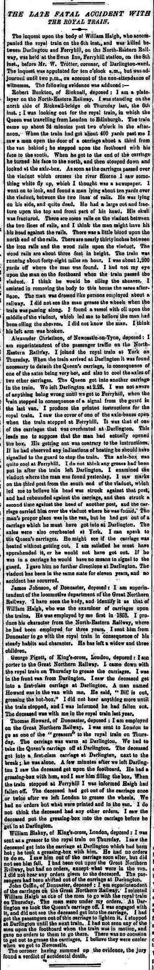 The Morning Chronicle 12th September 1855, page 7 From The British Newspaper Archive Image © THE BRITISH LIBRARY BOARD. ALL RIGHTS RESERVED
