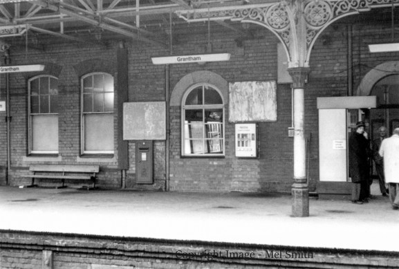 The entrance and exit from platform 1 on the right. The former bricked up entrance, now a window, is central to the photograph. The former Dining Room can be seen on the left. Copyright Image - Mel Smith