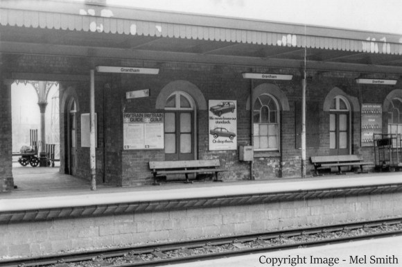Another view of Platform 2 viewed from platform 1. This again shows the former down side Refreshment Room to the right of the gap. Copyright Image - Mel Smith