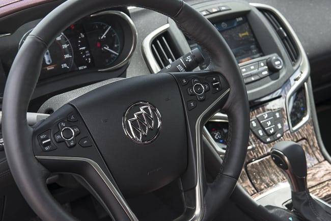 2014 Buick LaCrosse Review steering wheel