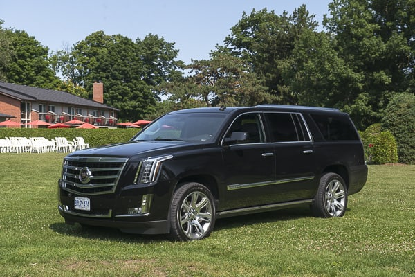 2015 Cadillac Escalade Review front black