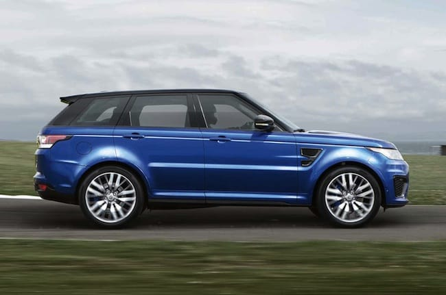2015 Range Rover Sport SVR side view
