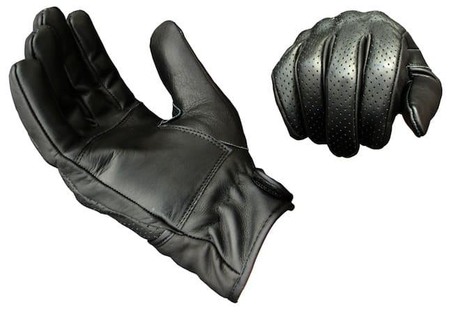 Suus Black Moto Gloves black