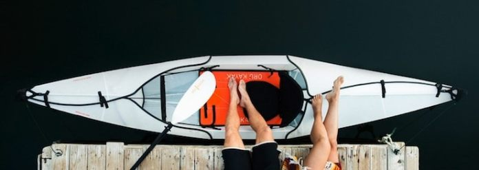 Oru Kayak Beach Foldable Kayak top-view