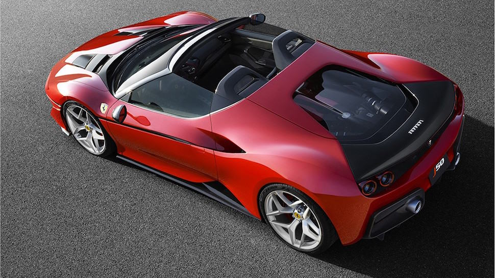 Ferrari J50 top view