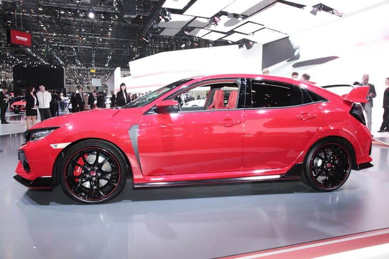 the 306 hp 2017 honda civic type r finally takes wraps off in geneva. Black Bedroom Furniture Sets. Home Design Ideas