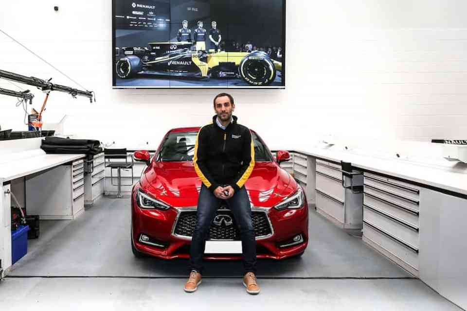 INFINITI provides Q60S coupe to Renault Sport Formula One Team M