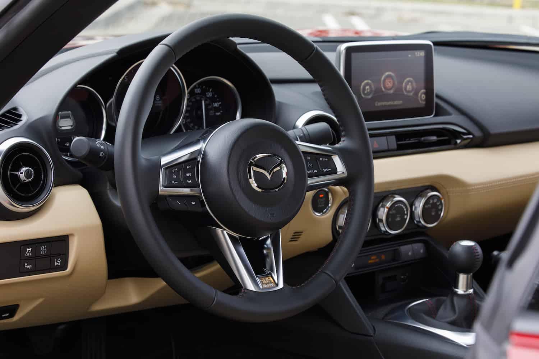 2017 Mazda MX-5 RF review front interior