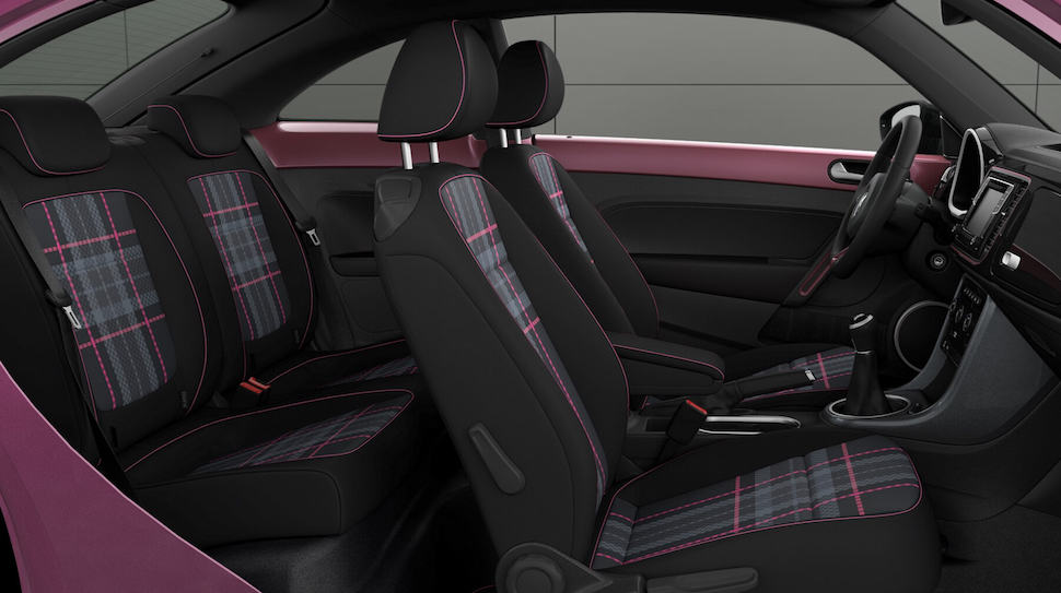 2017 VW Beetle Pink Edition Review interior seats