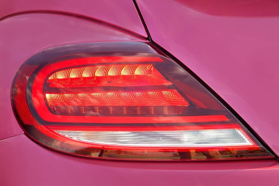 2017 VW Beetle Pink Edition Review light