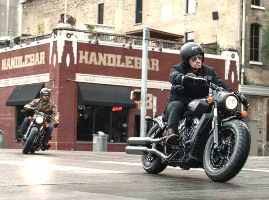2018 Indian Scout Bobber ridding