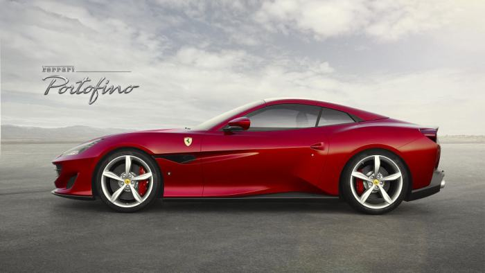 2018 Ferrari Portofino sideview top down