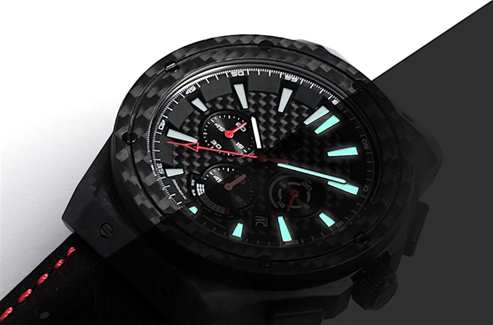 Carbon Renegade Carbon Fiber Watch night glow