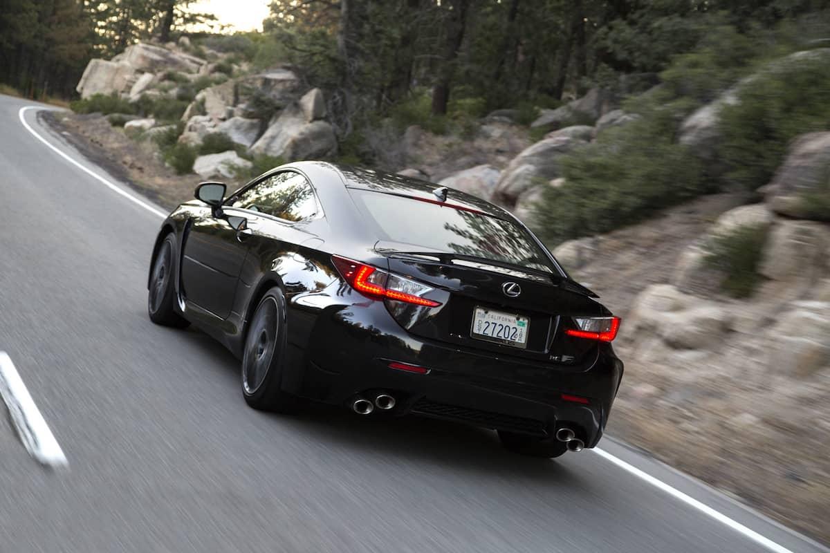2017 Lexus RC F Review rear rolling