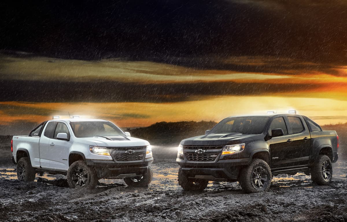 Teased: 2018 Chevy Colorado ZR2 Midnight and Dusk Editions Before SEMA