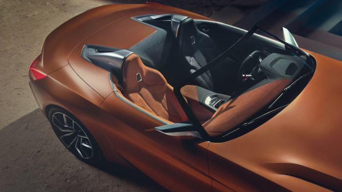 2019 BMW Z4 concept top view interior