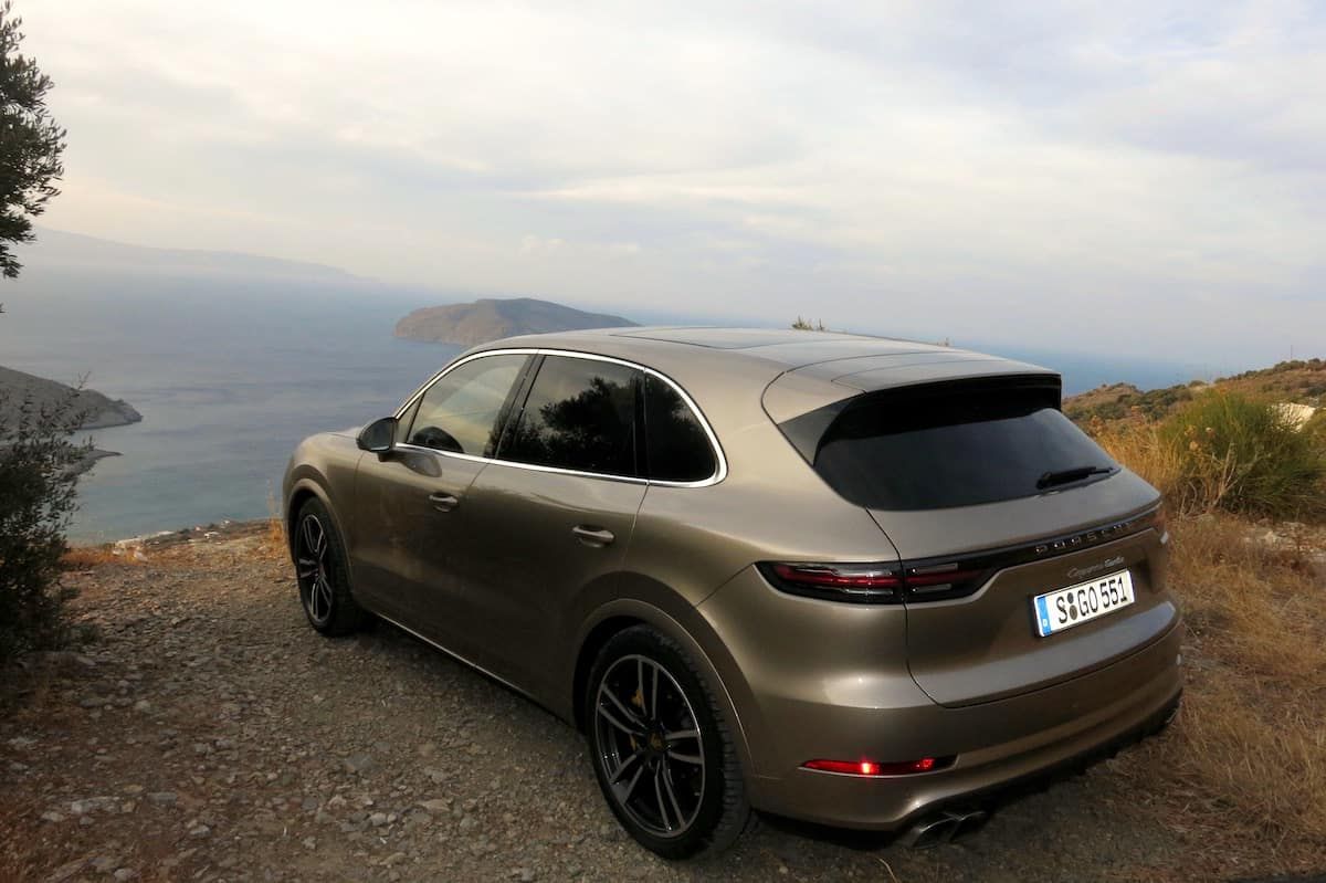2019 porsche cayenne review first drive gold rear view