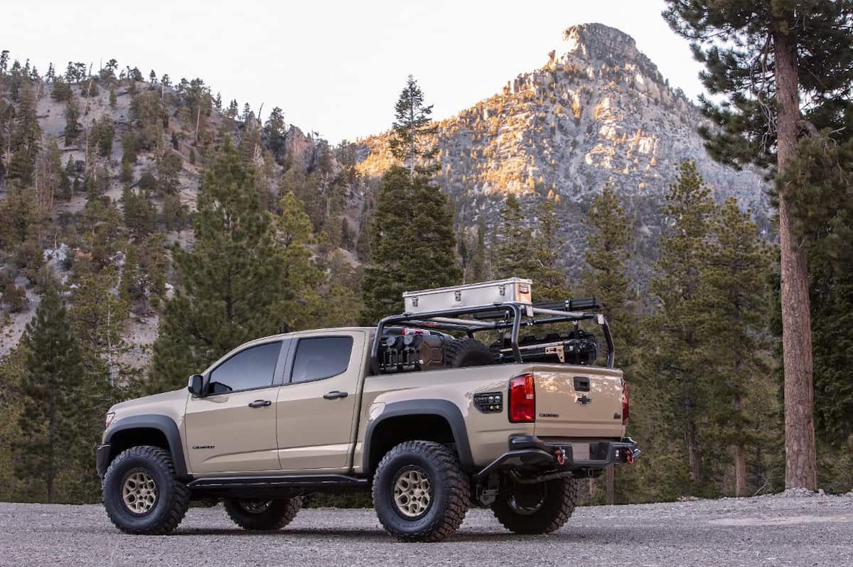 Colorado ZR2 AEV Concept sema 2017 rear view