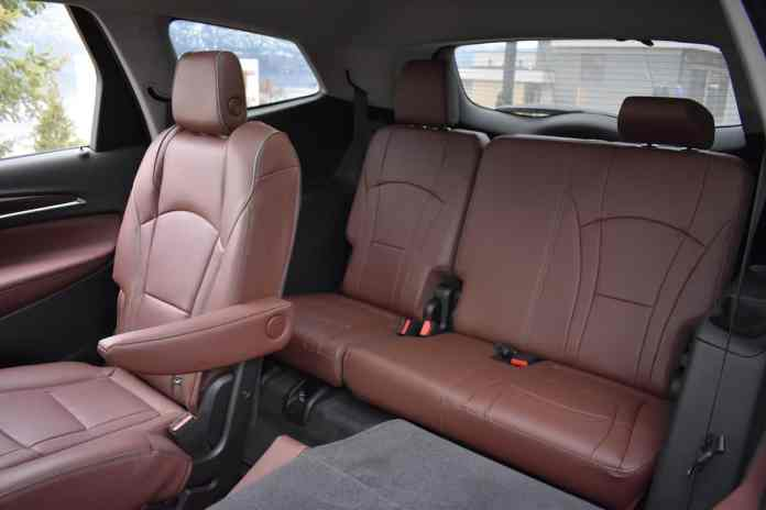 2018 Buick Enclave First Drive Review rear seats