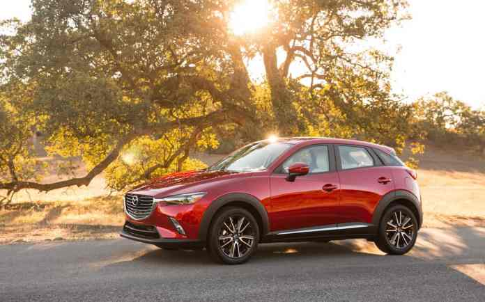 2018 mazda cx-3 review red sideview