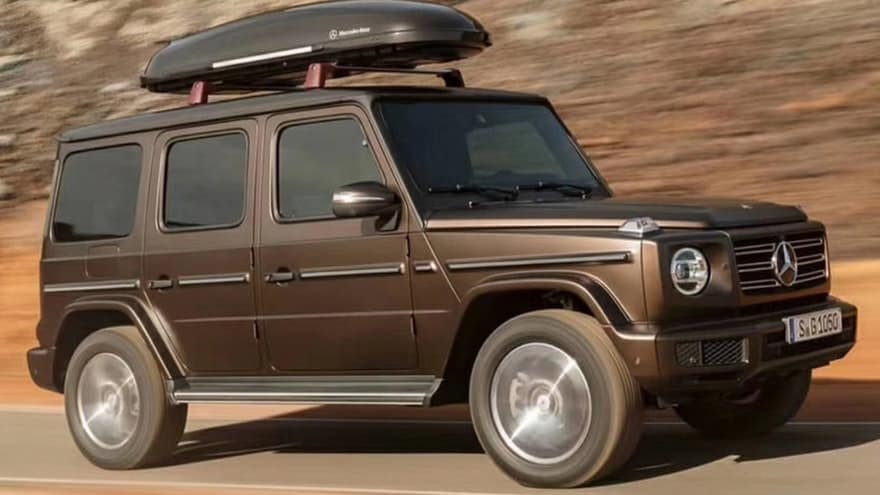 2019 mercedes-benz g-class wagon front rolling