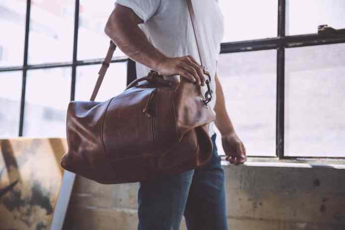 Leather Military Duffle Bag by WP Standard