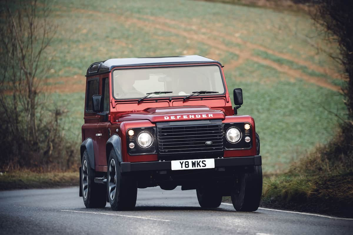 new defender 2018 land rover 70th anniversary edition front view