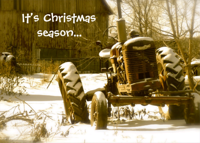 Tractor Christmas Cards Tractoramaus