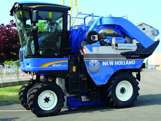 Vendimiadoras New Holland Opti-Grape. Fuente: interempresas