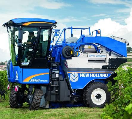 Vendimiadoras New Holland Braud 8030L. Fuente: NewHolland