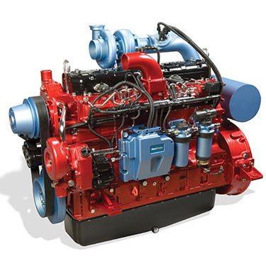Motor de 6 cilindros de un tractor