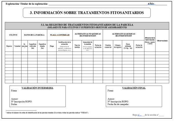 Cuaderno de campo productos fitosanitarios
