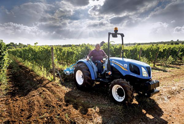 Tractor New Holland frutero para profesionales