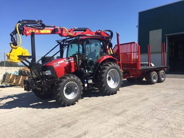 Tractor Case con grúa Toimil
