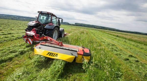 Segadora agrícola lateral