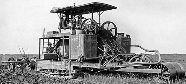 Tractor de cadenas desarrollado por Benjamin Holt