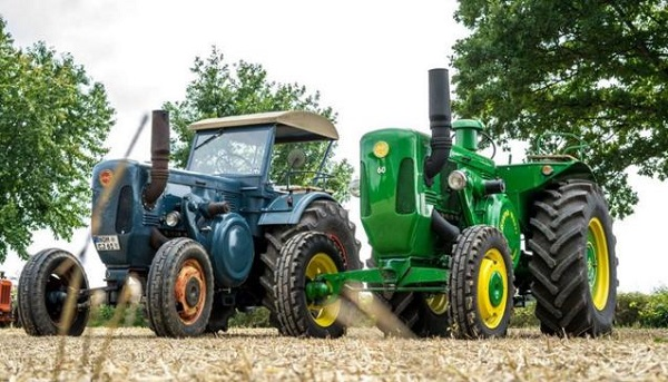 Tractores Lanz y John Deere
